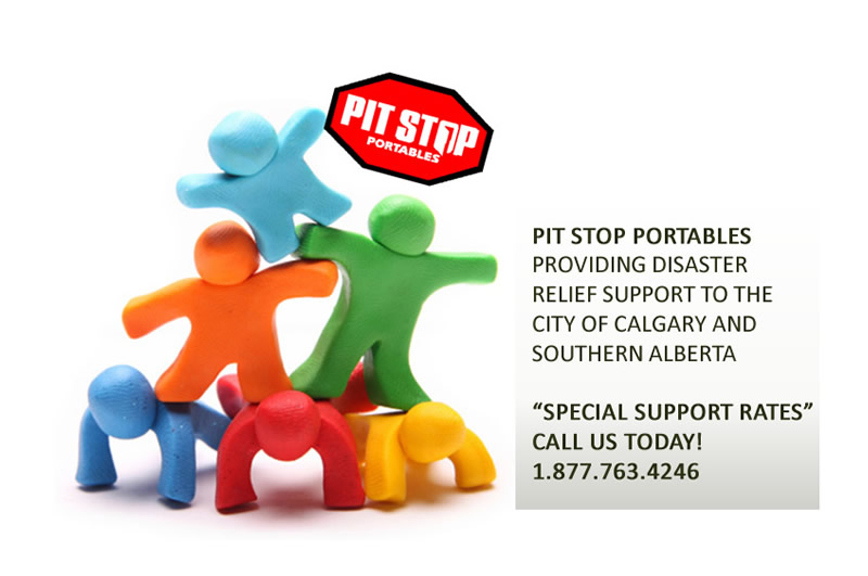 Pit Stop Portables Supports Local Calgary